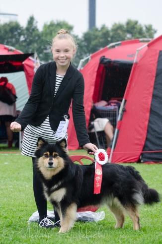 Emma og Tholie BIS barn og hund begge dage i Fuglebjerg!